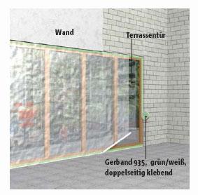 Abkleben und sicheres Befestigen von Abdeckfolien im Innen- und Außenbereich