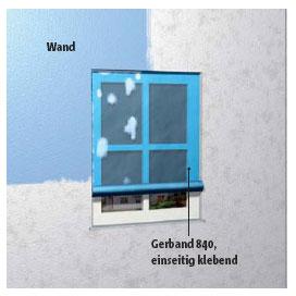Oberflächenschutzfolie zum rationellen Abkleben glatter Flächen