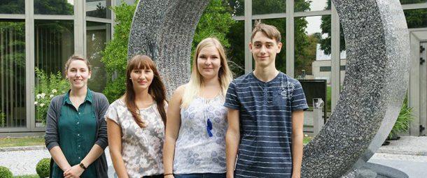 Am 1. September starten auch bei uns wieder vier junge Menschen ihre Berufsausbildung.